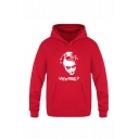 Letter WHY SO SERIOUS Cool Joker Printed Long Sleeve Casual Pullover Hoodie with Pocket