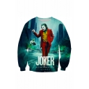 New Arrival Hot Popular Joker 3D Printed Long Sleeve Round Neck Loose Sweatshirts