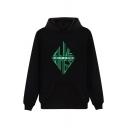 Hot Popular Boy Group Bigbang Geometric Logo Printed Long Sleeve Casual Sports Hoodie