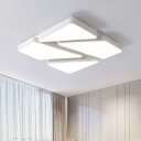 Acrylic Geometric Pattern Ceiling Fixture Simplicity Art Deco Surface Mount LED Light in Warm/White