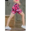Summer Hot Stylish Fold Over Waist Quick -Drying Skinny Sport Yoga Bermuda Shorts