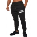 Men's Popular Fashion Letter LOVE Printed Drawstring Waist Casual Sweatpants