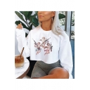 Hot Popular Long Sleeve Round Neck Cartoon Angel Baby Printed Pullover Cropped Sweatshirt
