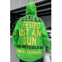 Mens Summer Stylish Letter UST AN DUN Print Hooded Zip Up Sun Protection Skin Loose Jacket Coat