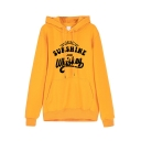 SUNSHINE AND WHISKEY Letter Print Long Sleeve Loose Casual Hoodie