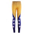 Women's Sexy Venezuela Flag Print Skinny Full Length Leggings