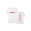 Summer Kpop Boy Group WE ARE HERE Letter Print Short Sleeve Round Neck Tee