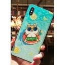 Funny Summer Cartoon Lemon Dog Printed Blue Mobile Phone Case