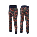 Men's New Fashion Popular Camouflage Printed Drawstring Waist Cotton Fitness Sweatpants