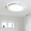 White Ultra Thin Round Flush Light Simplicity Acrylic Surface Mount Ceiling Light for Sitting Room