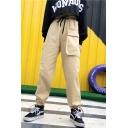 Unisex Popular Fashion Simple Plain Loose Fit Trendy Drawstring Cargo Pants