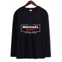 Dunder Mifflin SCOTT Letter Printed Basic Round Neck Long Sleeve Unisex T-Shirt