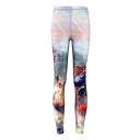 Womens New Beauty and Beast rainbow Floral Print Full Length Leggings