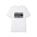Hot Trendy Kpop Boy Group Letter Logo Printed Round Neck Short Sleeve Casual Tee
