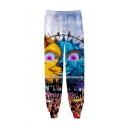 Hot Fashion Tomorrowland Electronic Syllable 3D Printed Drawstring Waist Trendy Sweatpants