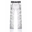 Guys Basic Fashion Colorblock Drawstring Waist Casual Loose Sports Sweatpants