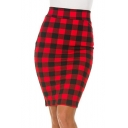 Summer Chic Vintage High Waist Printed Stretch Fitted Midi Pencil Skirt