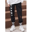 Popular Fashion Letter AEPR Printed Loose Fit Guys Trendy Casual Track Pants