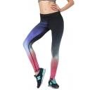 Womens Quick Dry Trendy Gradient Color Skinny Fit Yoga Leggings
