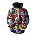 Hot Popular Clown 3D Printed Drawstring Hooded Long Sleeve Trendy Loose Hoodie