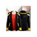 Mystic Messenger Color-Block Zip Up Cosplay Costume Hooded Coat