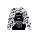 American Popular Rapper 3D Printed Drawstring Hooded Long Sleeve Black and White Unisex Pullover Sweatshirts