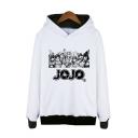 Letter Jojo Popular Comic Figure 3D Printed Long Sleeve Unisex White Pullover Hoodie