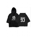 Stylish Popular Kpop Boy Group Short Sleeve Loose Fit Hooded Tee