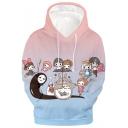 Trendy Cartoon Comic Totoro 3D Print Long Sleeve Unisex Hoodie