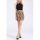 New Fashion Aztec Geometric Printed Mini Bodycon Skirt