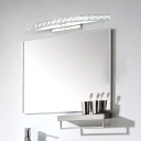 Modernism Crystal Lighting Fixture Stainless Vanity Light in Warm/White for Mirror