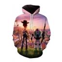 Popular Buzz Lightyear Woody 3D Printed Long Sleeve Casual Loose Drawstring Hoodie