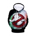 Ghostbusters Funny Figure 3D Printed Long Sleeve Unisex Loose Drawstring Pullover Hoodie