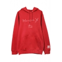 Stylish SHINE FOREVER Letter Kpop Boy Group Long Sleeve Hoodie with Pocket