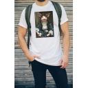 Summer Popular Short Sleeve Round Neck Pig Printed Funny T-Shirt for Men