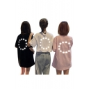 Girls Summer Hip Hop Style Glitter Star Printed Loose Oversized T-Shirt