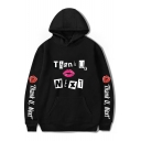 New Arrival Long Sleeve THANK U NEXT Letter Lip Printed Unisex Hoodie with Pocket