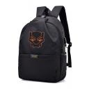 Fashion Comic Logo Printed Creative USB Charge Students School Bag Backpack 29*14*43cm