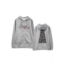 Popular Kpop Boy Band Letter Printed Long Sleeve Casual Loose Unisex Hoodie