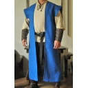 New Stylish Vintage Plain Cosplay Costume Sleeveless Open Front Cape Cloak For Men