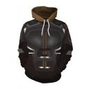 Cool Comic 3D Printed Cosplay Costume Drawstring Hooded Long Sleeve Coffee Pullover Hoodie