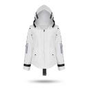 Fashionable Game Cosplay Costume Long Sleeve Zip Placket Hooded White Jacket Coat