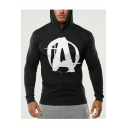 Popular Fashion Comic Logo A Printed Long Sleeve Slim Fitted Sports Hoodie