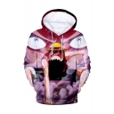 One Piece Popular Comic Character 3D Printed Long Sleeve Purple Drawstring Pullover Hoodie