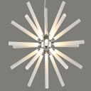 Post Modern Snowflake Chandelier Light Acrylic Multi Light LED Suspension Light in Chrome