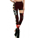 Cool Trendy 3D Armour Pattern Stretch Fit Athletic Yoga Leggings
