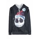 Christmas Hat Galaxy 3D Printed Black Long Sleeve Unisex Pullover Hoodie with Pocket