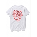 Hot Fashion GIRLS DON'T CRY Letter Printed Round Neck Short Sleeve Cotton Unisex Tee