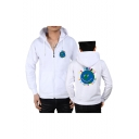 Popular Astroworld Letter Earth Printed Long Sleeve Full Zip Casual Sports Hoodie