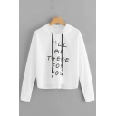 Popular Dot Letter I'LL BE THERE FOR YOU Printed Casual Crop Hoodie